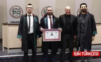 Avukat Necip Nalbantoğlu, avukatlık mesleğine resmen adımını attı