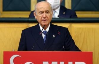 Milliyetçi Hareket Partisi Genel Başkanı Devlet Bahçeli, MHP grup toplantısında konuştu.