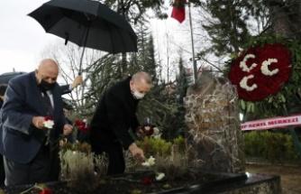 Cumhurbaşkanı Erdoğan, Türkeş'in kabrini ziyaret etti