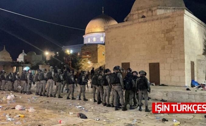 İsrail polisi Mescid-i Aksa'da ses bombalarıyla cemaate saldırdı! Çok sayıda yaralı...