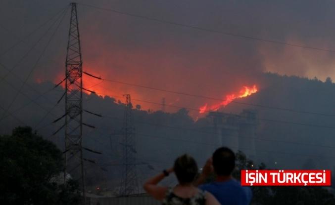 Milas'taki termik santrale sıçrayan yangın 10 saat sonra söndü