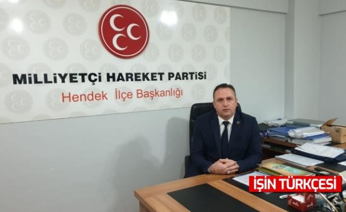 MHP Hendek İlçe Başkanı Namlı'dan basın açıklaması